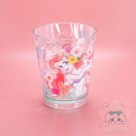 Grand Verre Ariel Collection Fleuris Turquoise Disney Japan