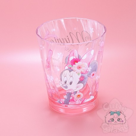 Verre Minnie Rose Fleuris Disney Japan
