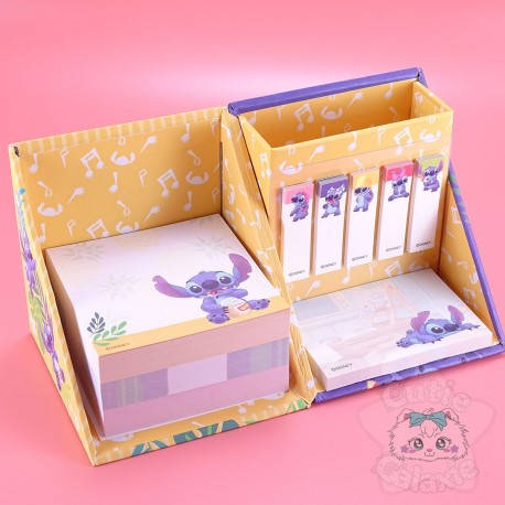 Boite Bureau Mémo Post-it Dépliable Stitch Disney Japan
