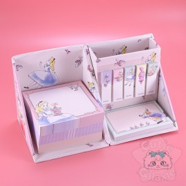 Boite Cube Bureau Mémo Post-it Pliable Alice Aux Pays Des Merveilles Disney Japan