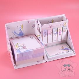 Boite Cube Bureau Mémo Post-it Pliable Alice Disney Japan