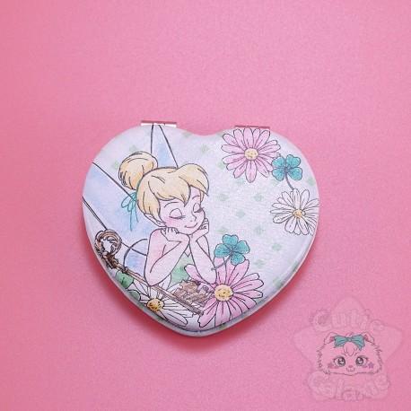 Petit Miroir Fée Clochette Tinker Bell En Forme De Coeur Disney Japon