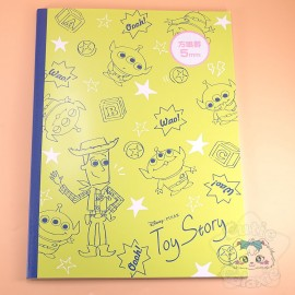 Carnet A4 Alien Et Woody Toy Story Petits Carreaux Disney Japon