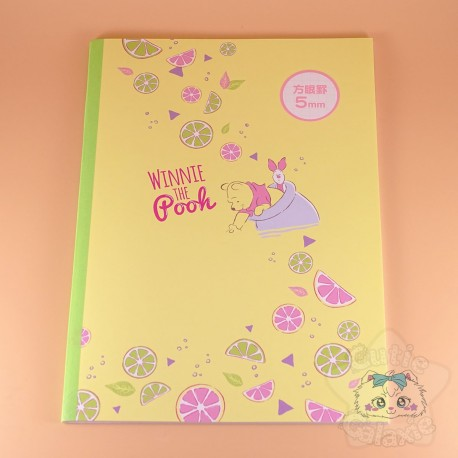 Carnet Winnie The Pooh 5mm Citron Disney Japon