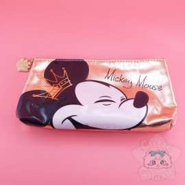 Trousse Mickey Mouse Dorée Or Disney Japan