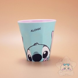 Verre Stitch Aloha! Bleu Et Rose Disney Japon