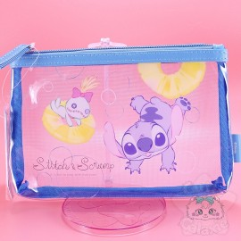 Trousse Transparente Rigide Stitch Lilo Et Stitch Disney Japan