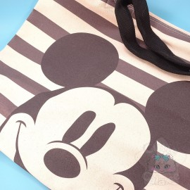 Grand Sac Mickey Mouse Tote Bag Canevas Fermeture Eclaire Disney Japan