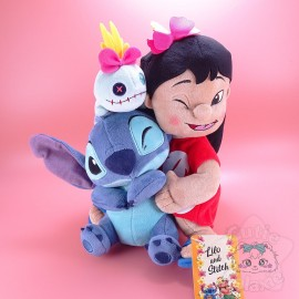 Grande Peluche Lilo Stitch Et Souillon Disney Japan