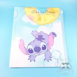 Pochette Plastique A4 Avec Rangements Stitch Disney Japan