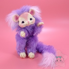 Créature Art Doll Poupée Handmade Violette Et Rose