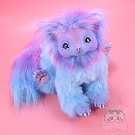 Créature Art Doll Poupée Handmade Bleue Multicolor