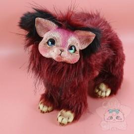 Créature Art Doll Handmade Rouge et Noire
