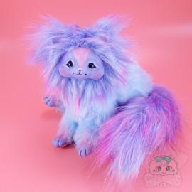 Créature Art Doll Poupée Articulée Handmade Bleue Multicolor