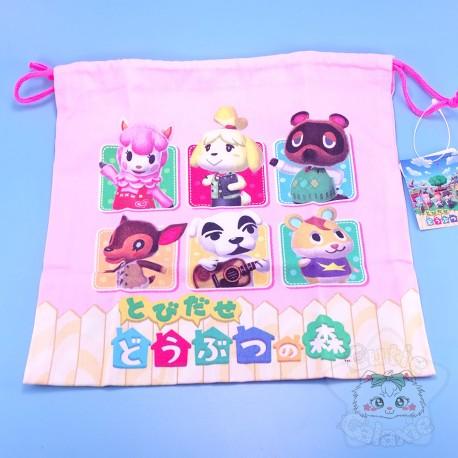 Petit Sac Tissus Cordon Animal Crossing Nintendo Japon