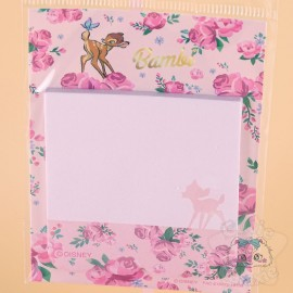 Mini Planche Bloc-Note Bambi Fleuris Disney Japon
