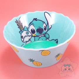 Bol Stitch Lilo Et Stitch Ananas Bordure Ondulée Disney Japon