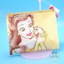 Pochette Trousse Tissus Belle La Belle Et La Bête Pompon Disney Japon
