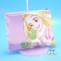 Pochette Trousse Tissus Plate Raiponce Pompon Disney Japon