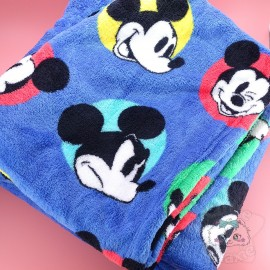 Plaid Douillet Motif Mickey Disney Japon Officiel