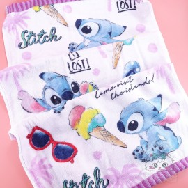 Serviette Visage Stitch Glace Disney Japon