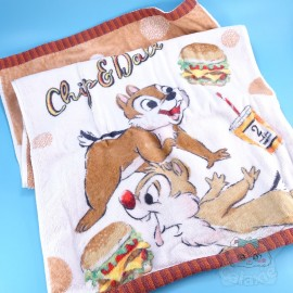 Serviette Visage Tic Et Tac Décor Burger Disney Japon
