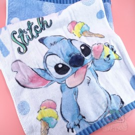 Serviette Visage Stitch Lilo Et Stitch Disney Japon