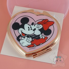 Double Miroir Forme Coeur Rose Gold Mickey Et Minnie Disney Japon