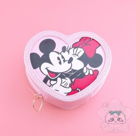 Pochette Porte-Monnaie Minnie Forme Coeur Disney Japon