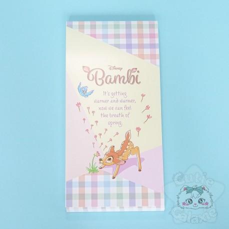 Bloc Note Quadrillé Bambi Disney Japon
