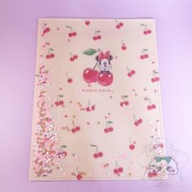 Double Range Document Pailleté Minnie Mouse Disney Japon