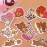 10 Stickers Rilakkuma Coeur