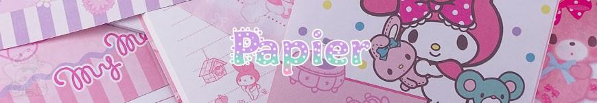 Papier - <p>Feuilles, papier à lettres, enveloppes, bloc-note kawaii aux personnages venant du Japon</p>